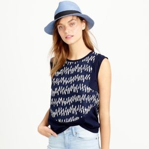 j. crew   sleeveless linen top blouse shirt